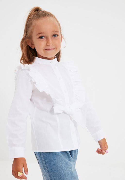 Kids Ruffle Front Shirt