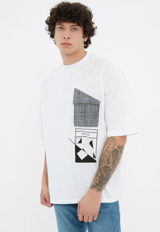 Graphic Oversized Crew Neck T-Shirt