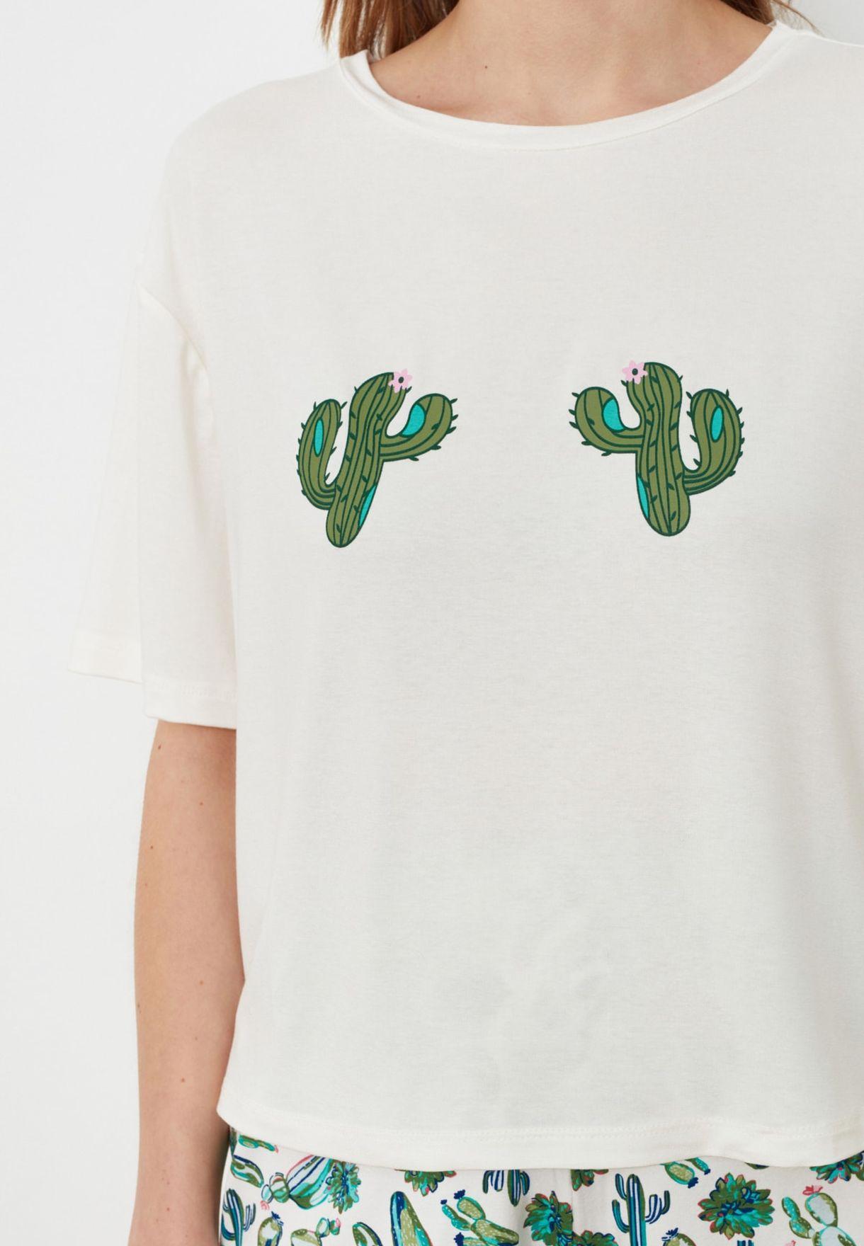 Printed Knitted Pyjama Set