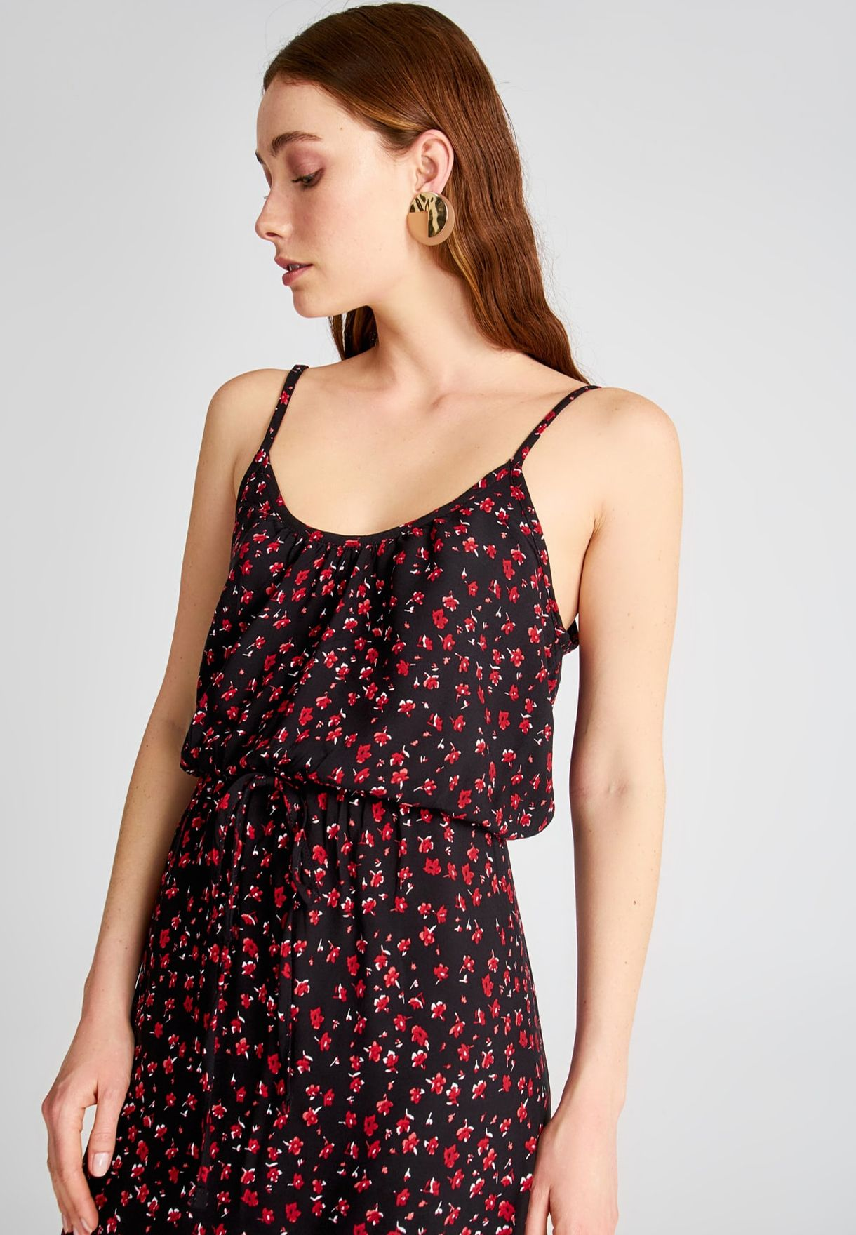 Trendyol Cami Strap Printed Dress - Women Clothing wMUcT