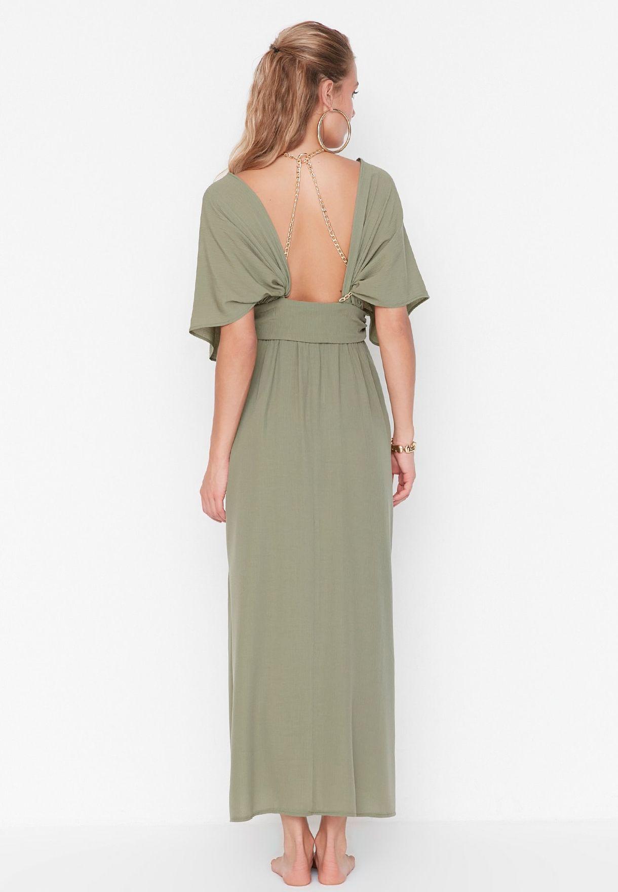 Kaftan Sleeve Dress