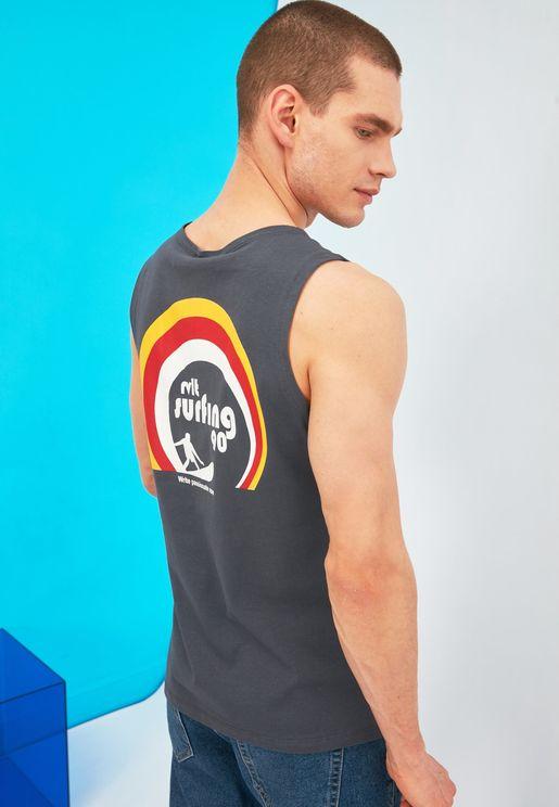 Back Print Vest