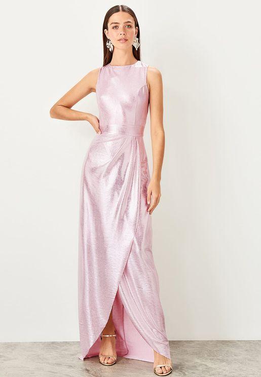 فستان براق