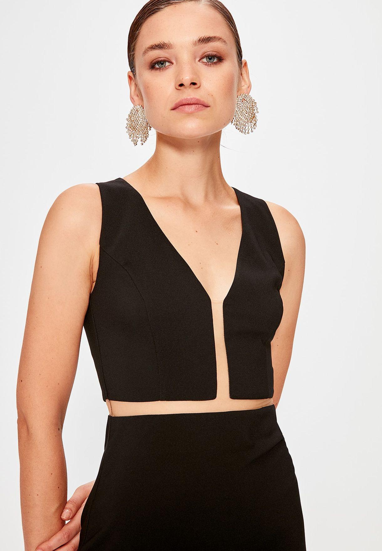 Trendyol V-Neck Bodycon Dress - Women Clothing eZRe3