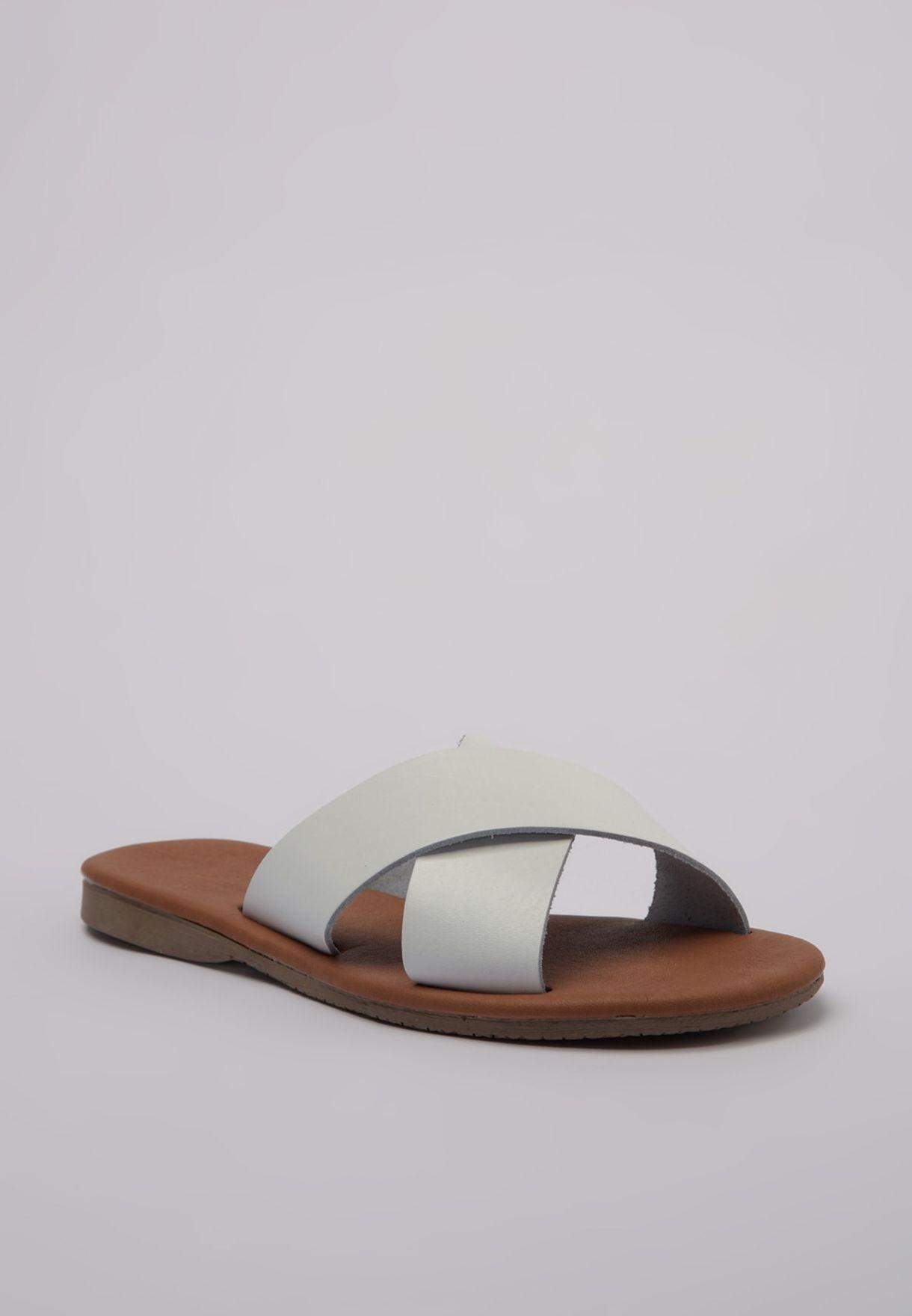 Trendyol Cross Strap Flat Sandal - Brand Shoes