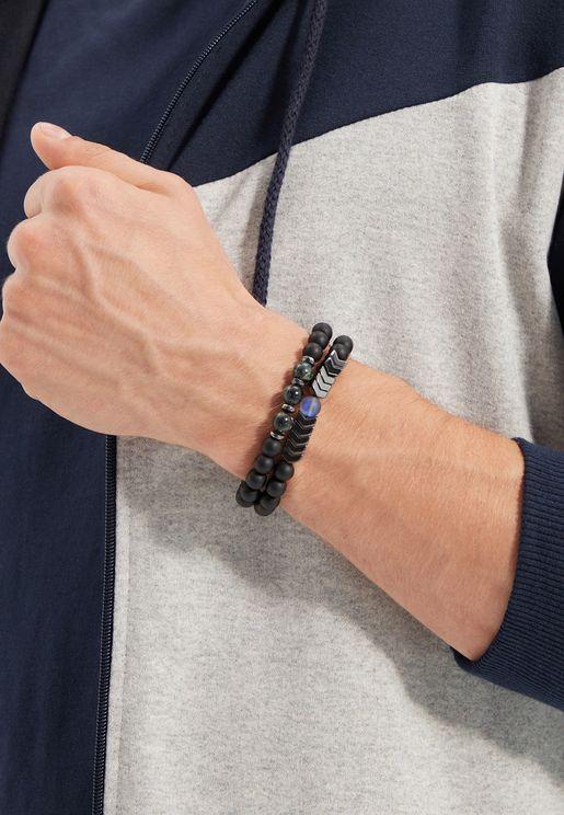 2 Pack Natural Stone Bracelet