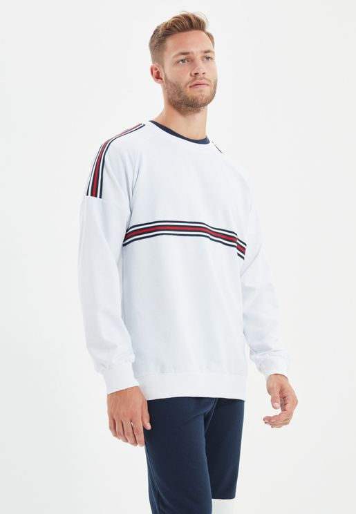 Shoulder Stripe Sweatshirt