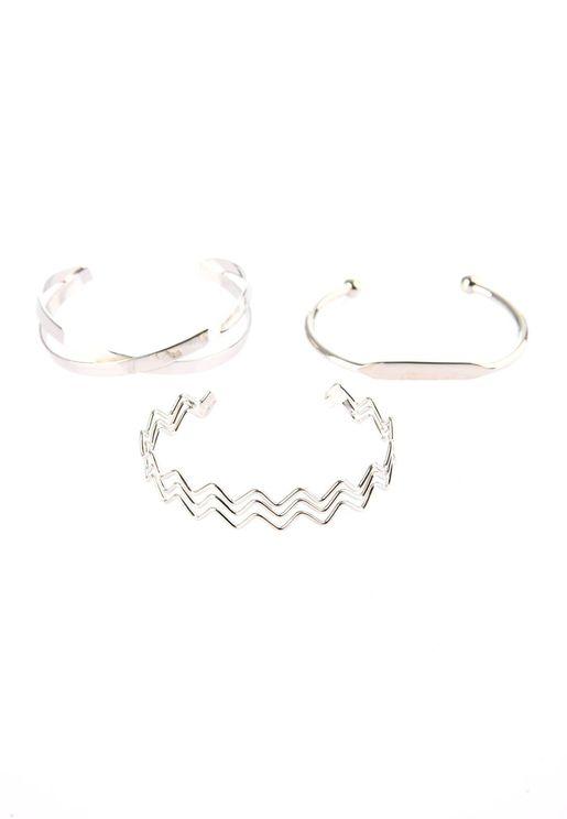 Silver Triple Bijouterie Bracelet