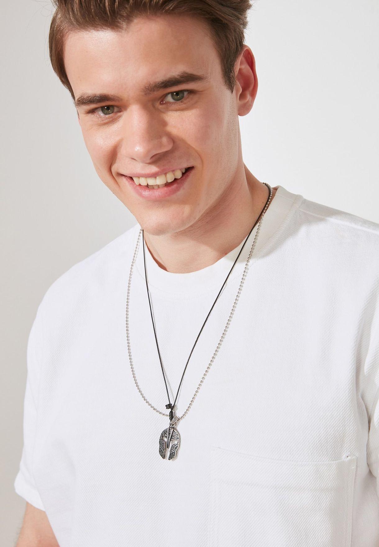 Corinthian Helmet Pendant Necklace