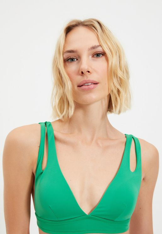 Cut Out Bikini Top