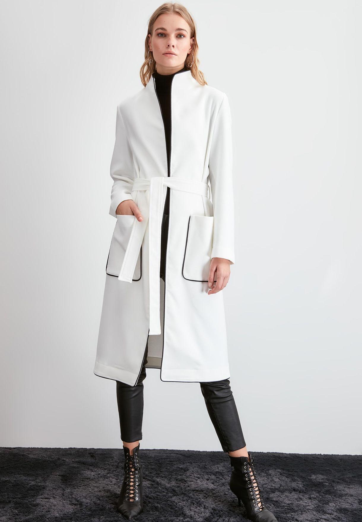 Piping Detail Longline Coat