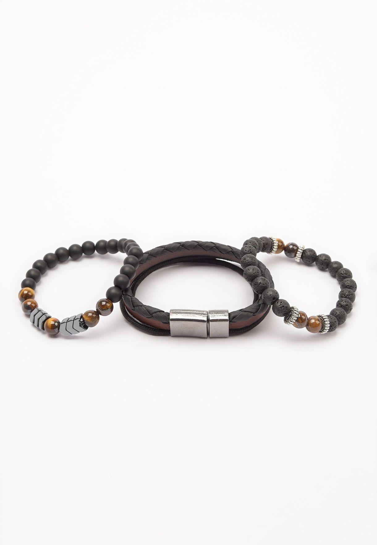 3 Pack Beaded Bracelet