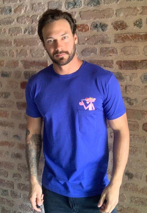 Pink Panther Crew Neck T-Shirt