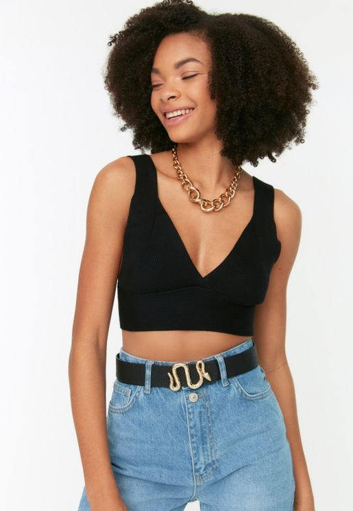 Snake Buckle Detail Belt