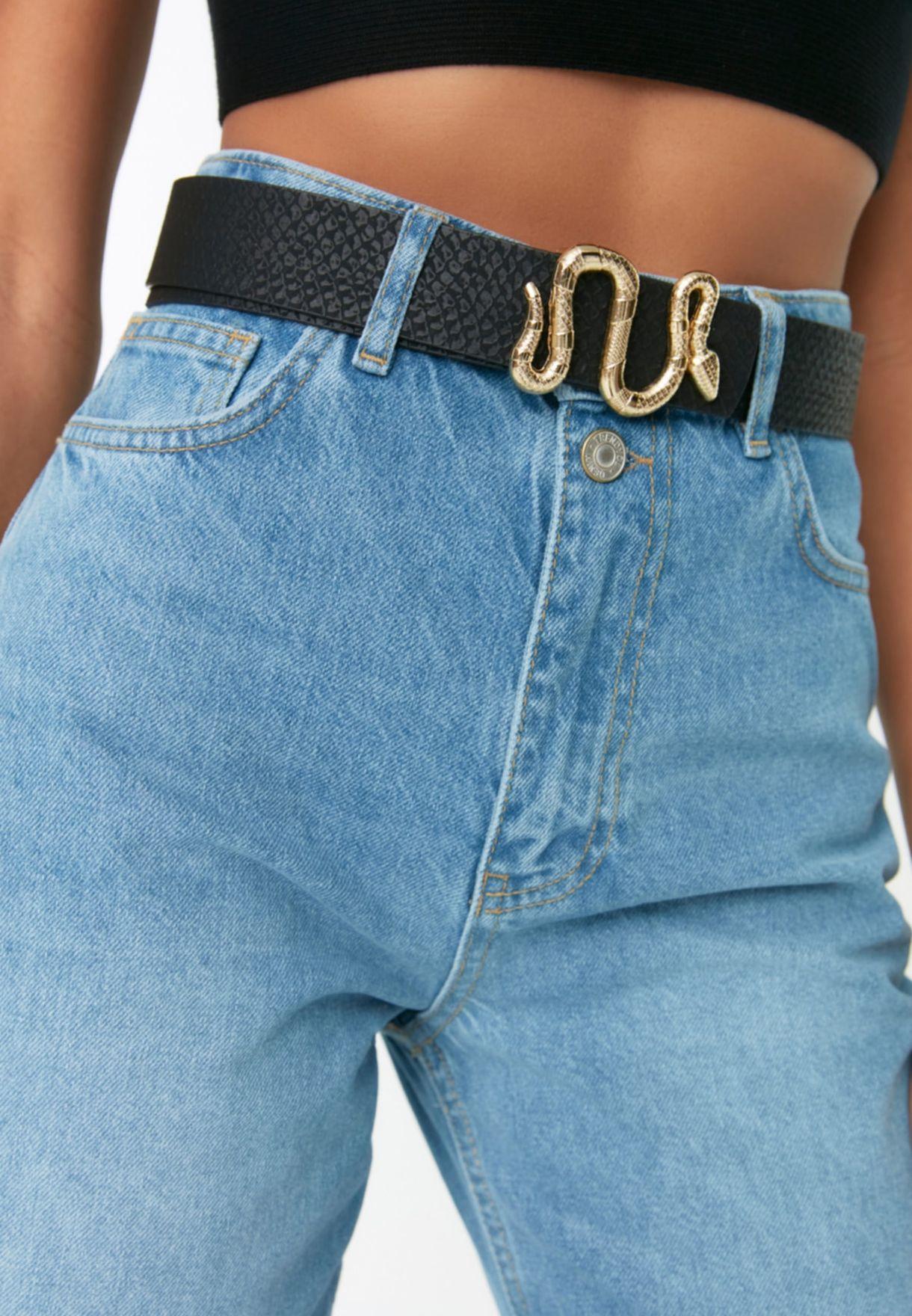 Snake Buckle Detail Belt