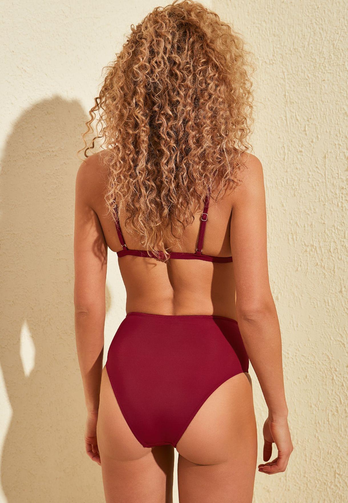 Openwork High Waist Bikini Bottom