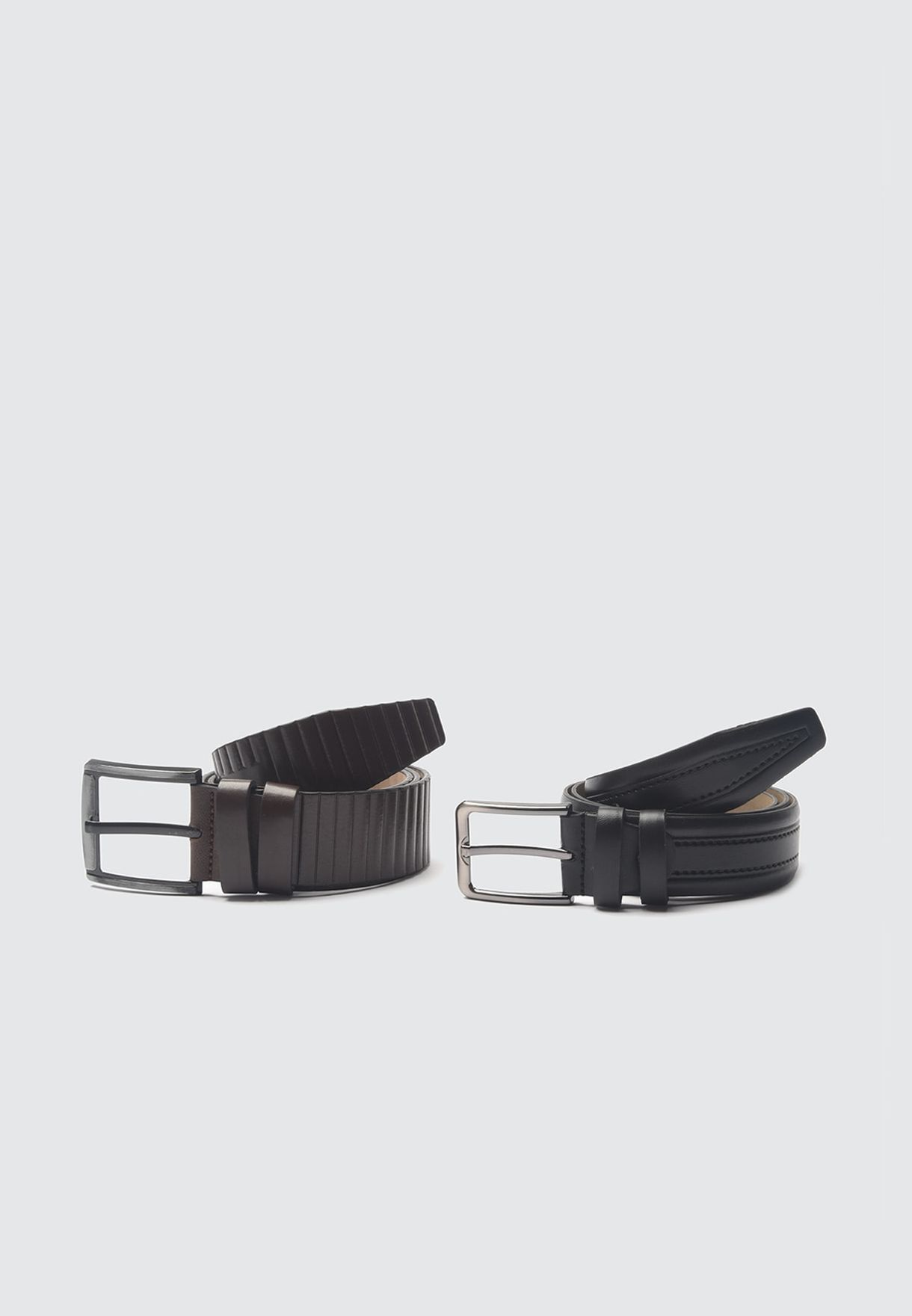 2 Pack Allocated Hole Belt