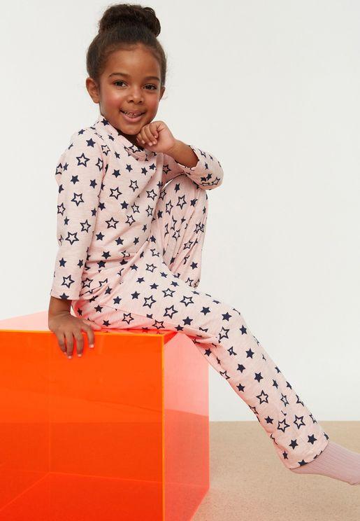Kids Star Print Pyjama Set