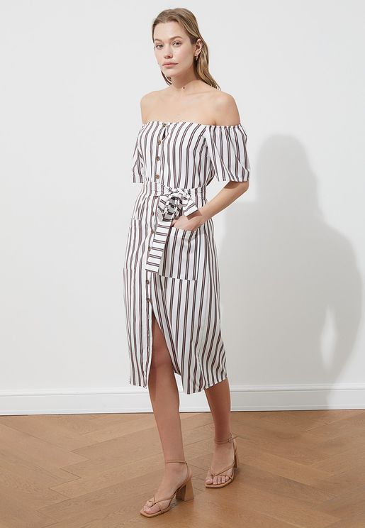 Bardot Striped Dress