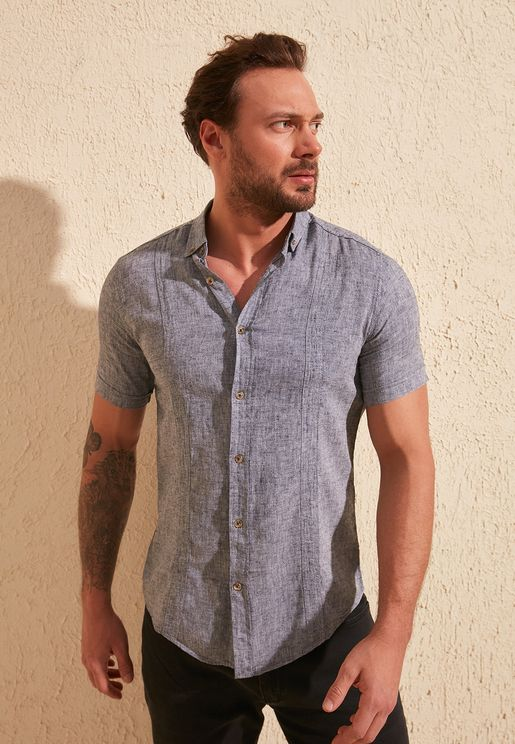 Textured Slim Fit Shirt