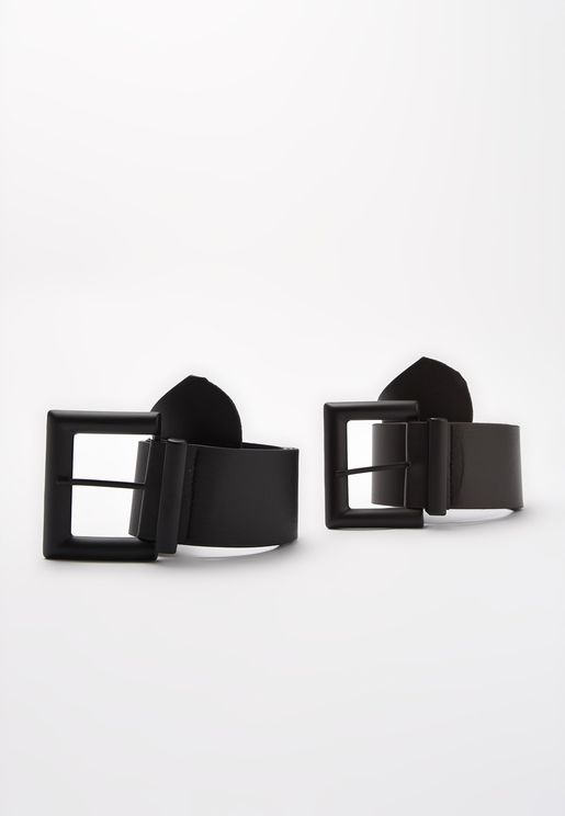 Classic Allocated Hole Belts Set