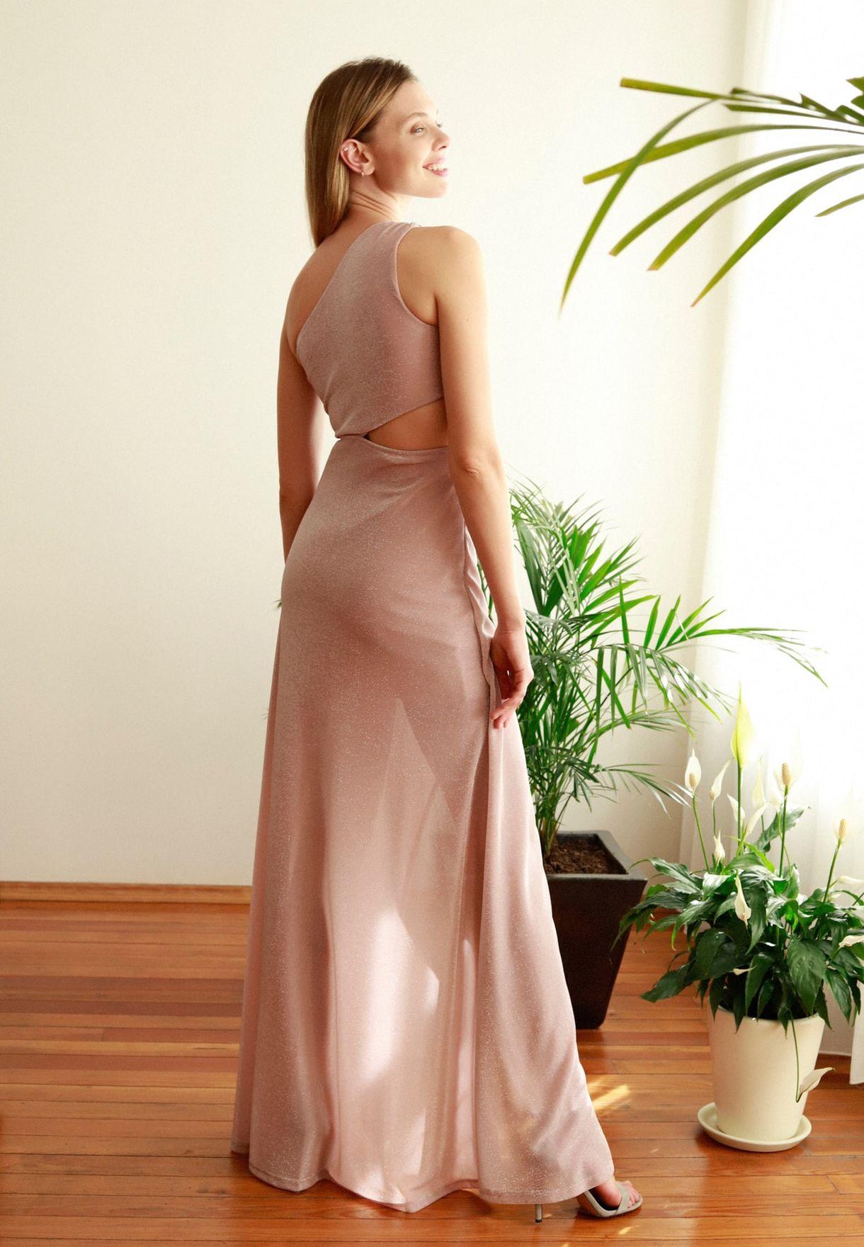 Cut Out Detail Side Split Dress