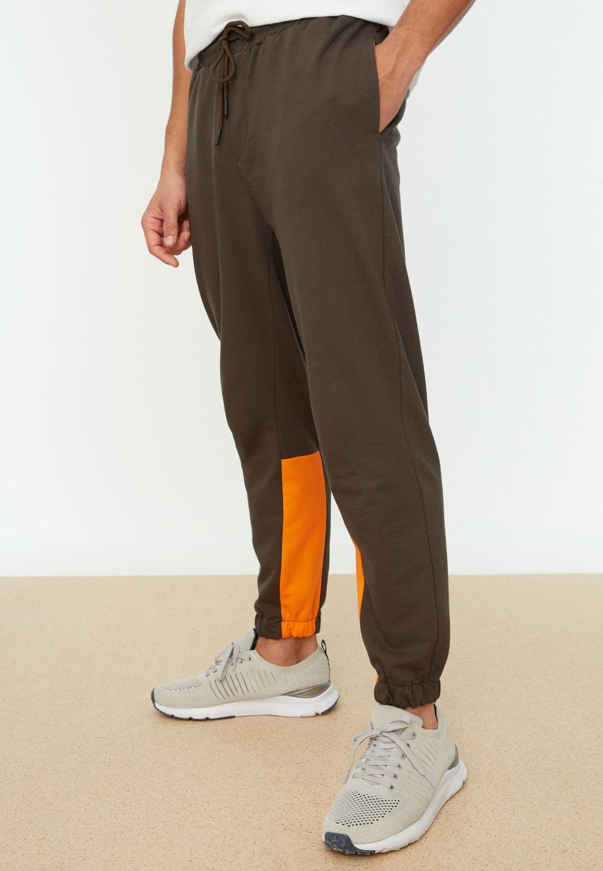 Regular Fit Paneled Sweatpants