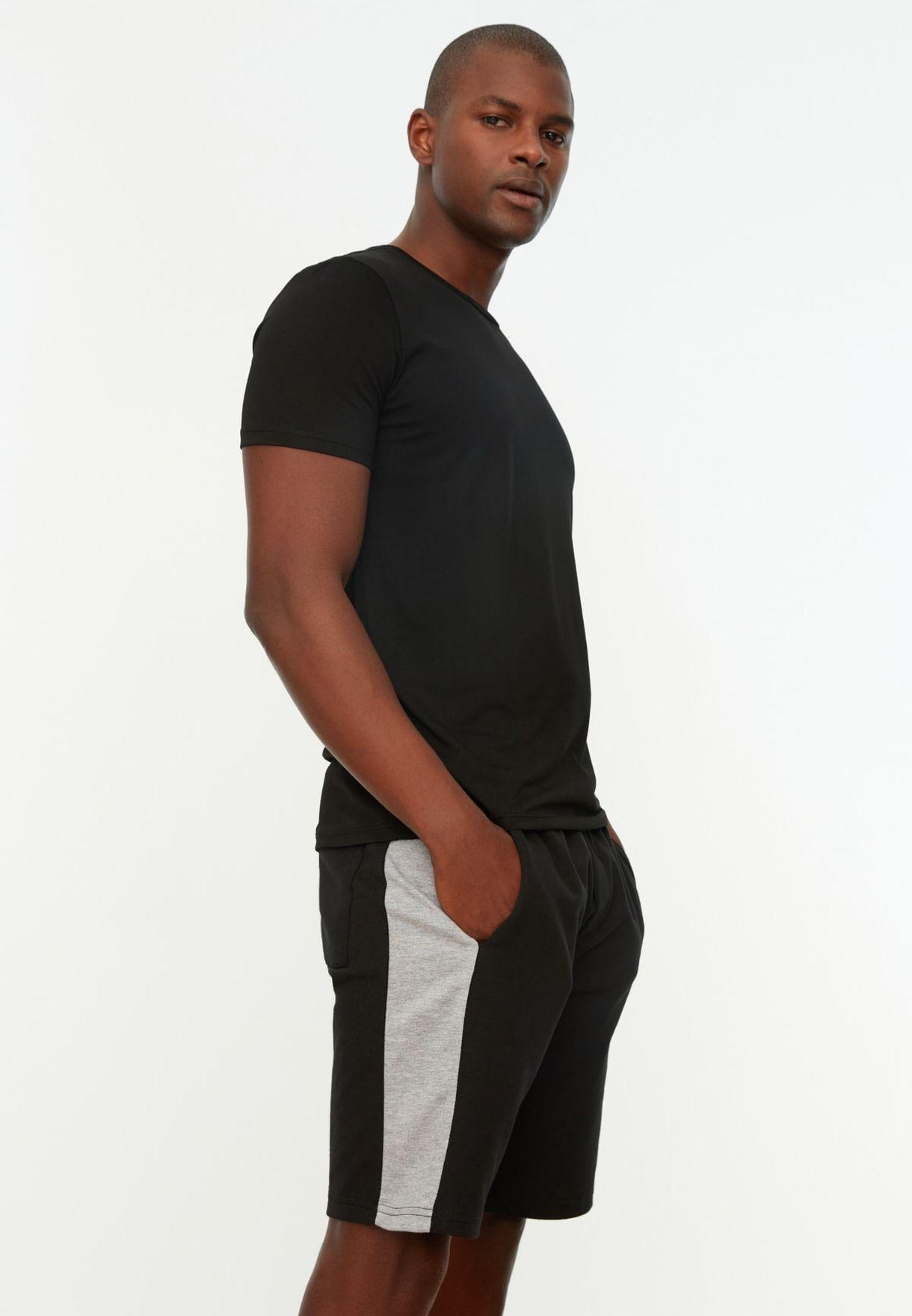 Side Stripe Drawstring Shorts