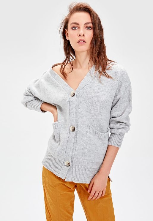 Pocket Detail Cardigan
