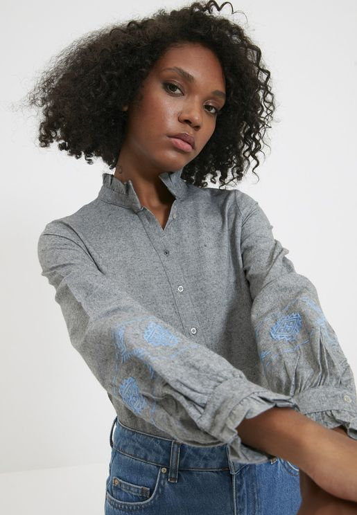 Embroidery Detail Shirt