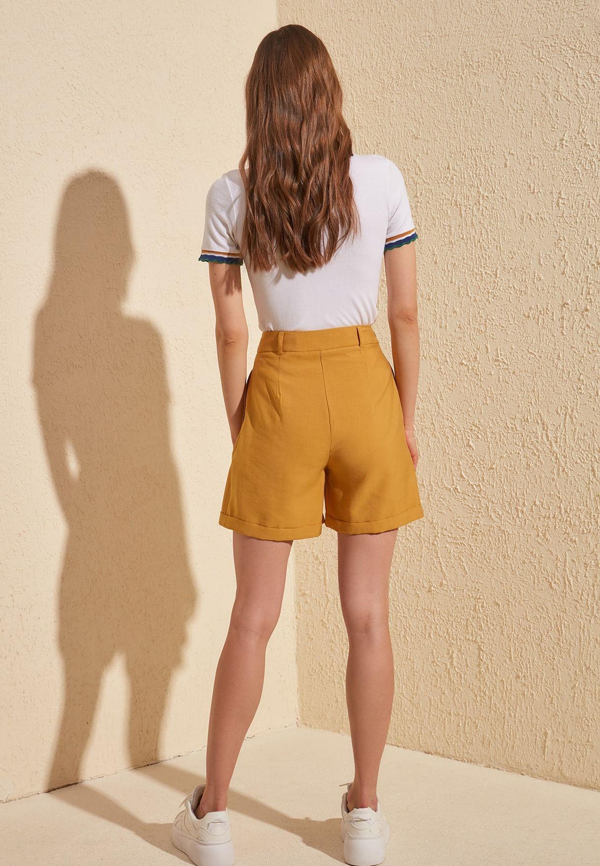 Roll Hem Shorts