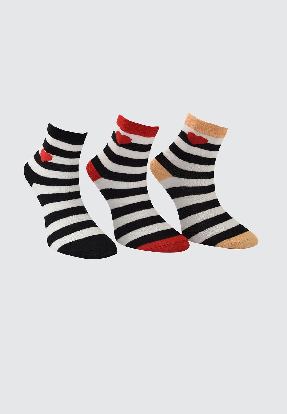3 Pack Knitted Socks