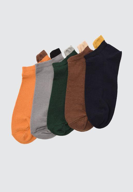 5-Pack Suba Sneaker Socks