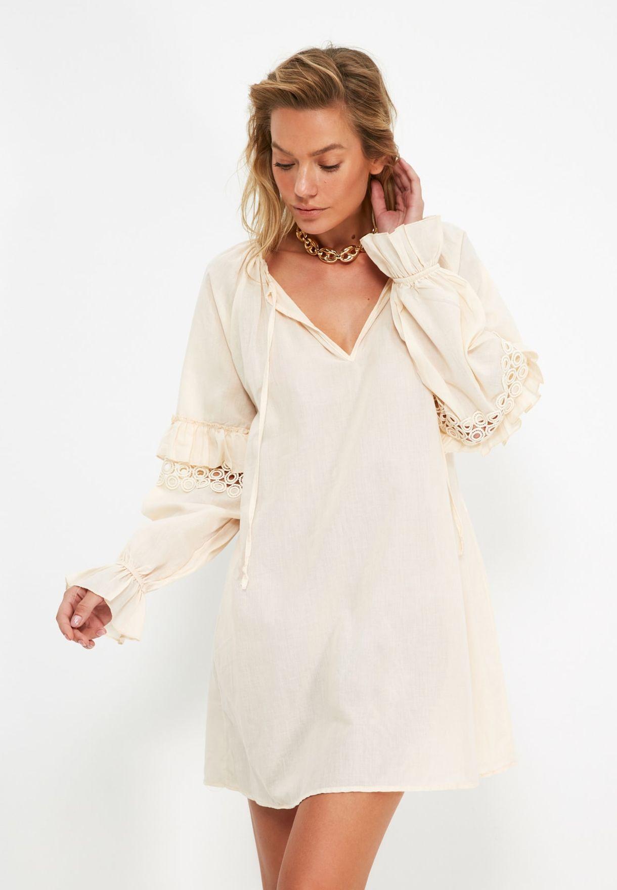 Balloon Sleeve Dress