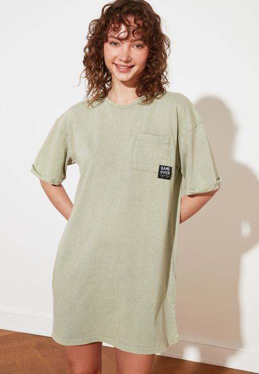 Pocket Detail T-Shirt Dress
