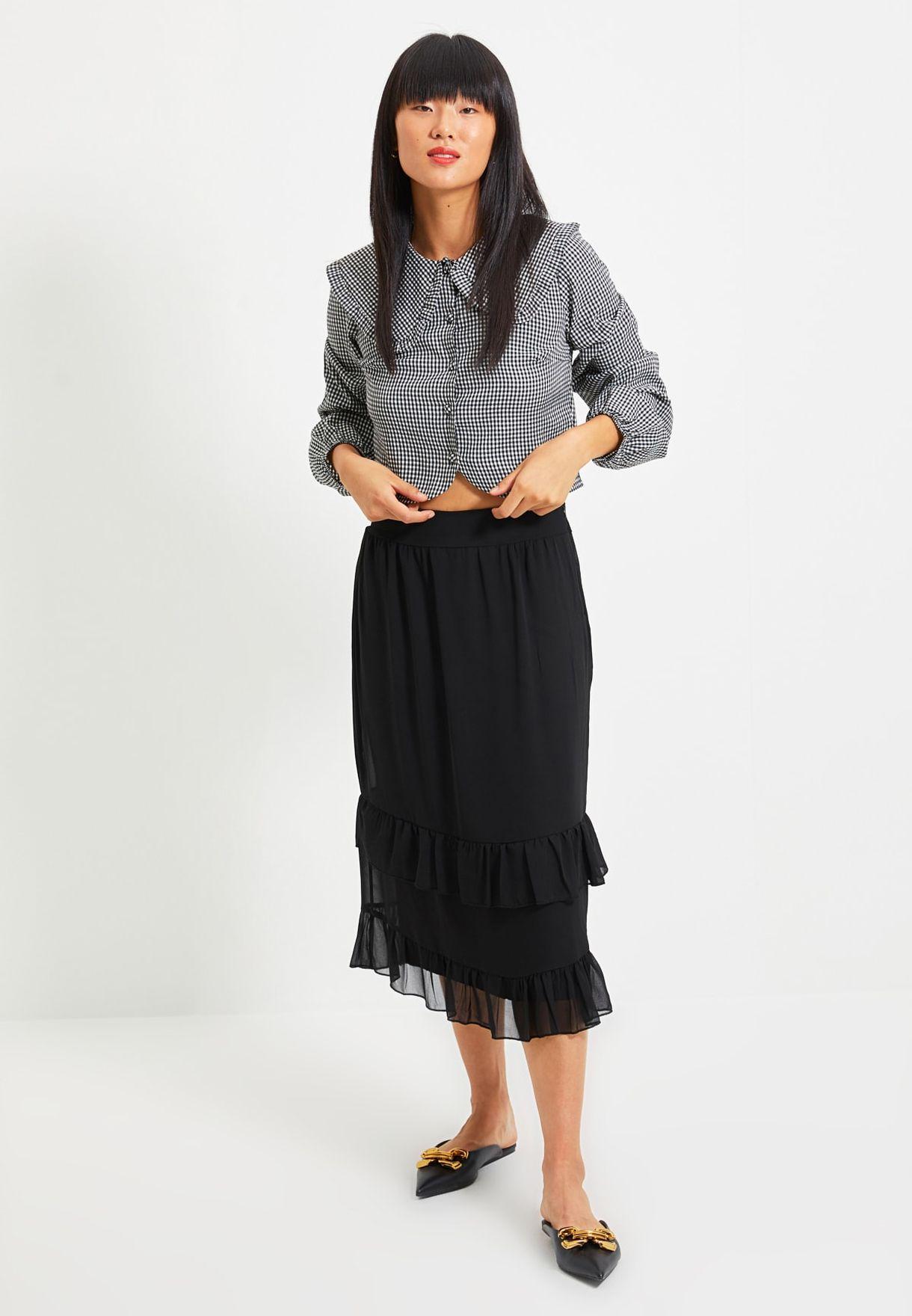 High Waist Tulle Skirt