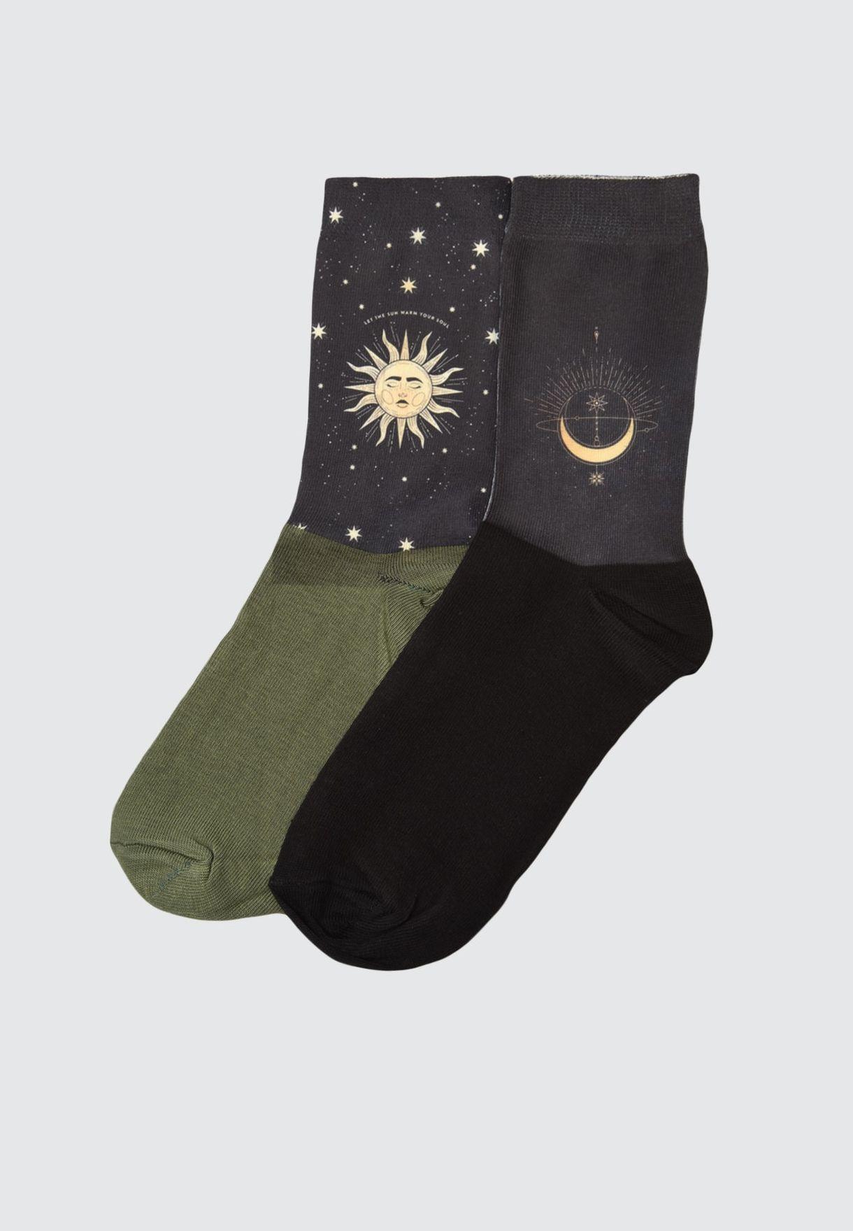 2 Pack Ankle Socks