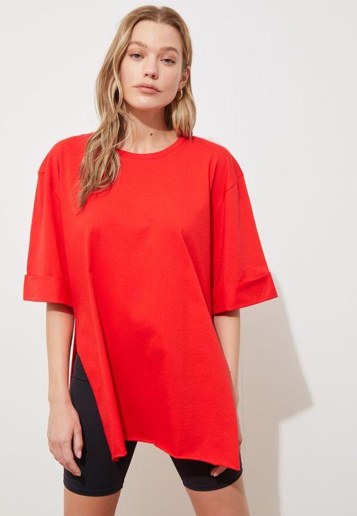 Side Split Oversized T-Shirt