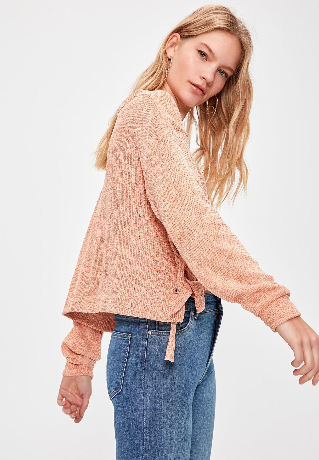 Side Tie Detail Sweater