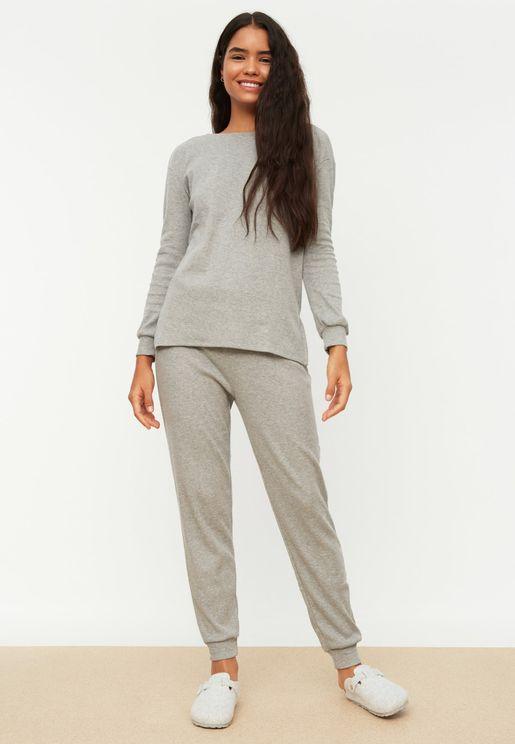Knitted Pajama Set