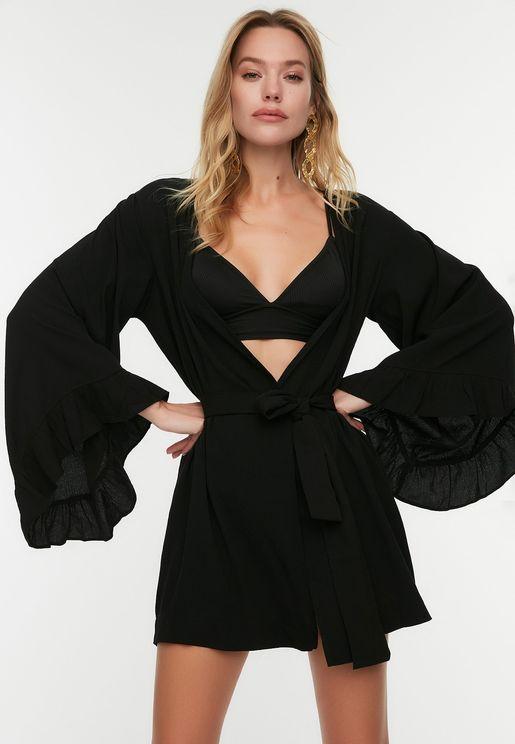 V-Neck Layered Kimono