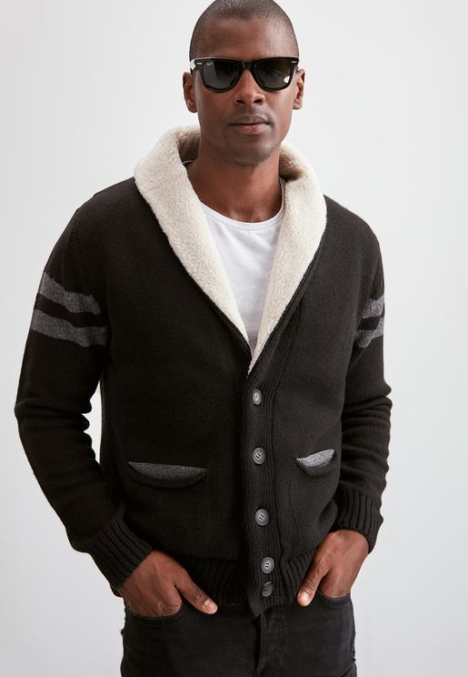Shawl Neck Button Cardigan