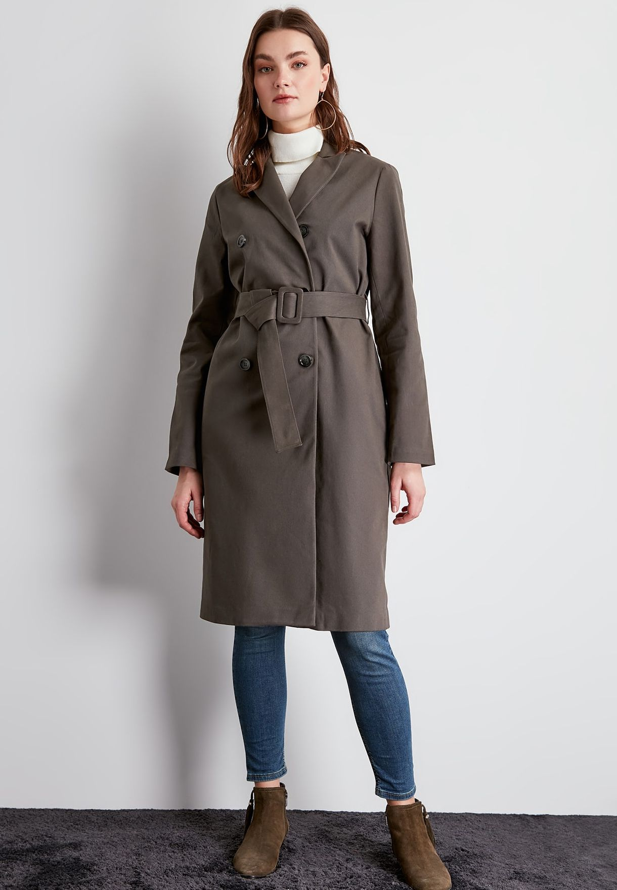 Longline Double Breasted Coat