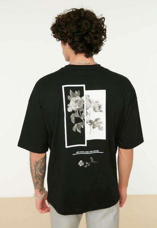 Regular Fit Printed Crew Neck T-Shirt