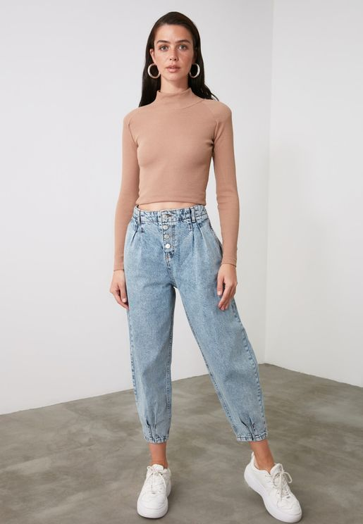 High Waist Balloon Jeans