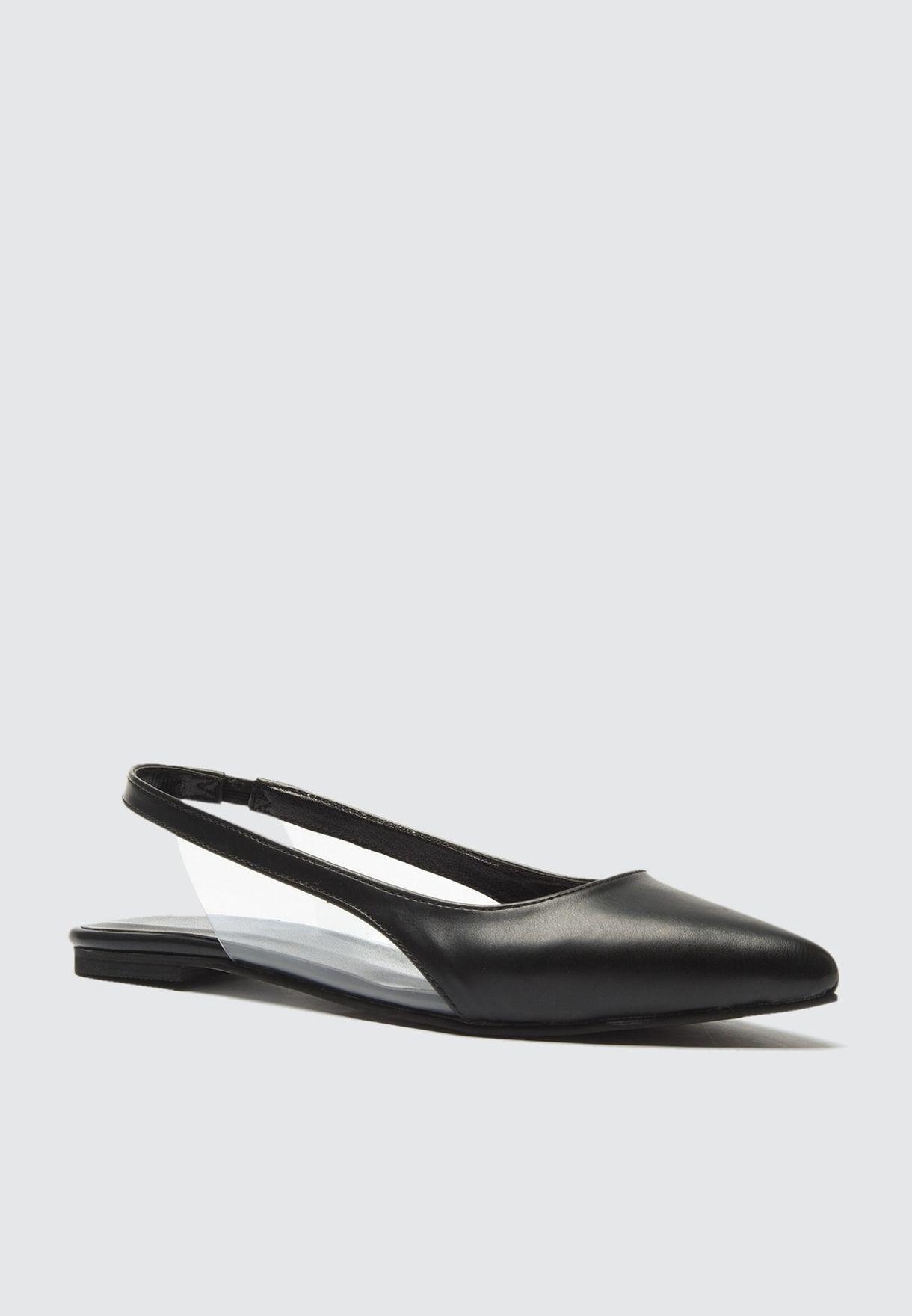 Transparent Detailed Flat Shoe