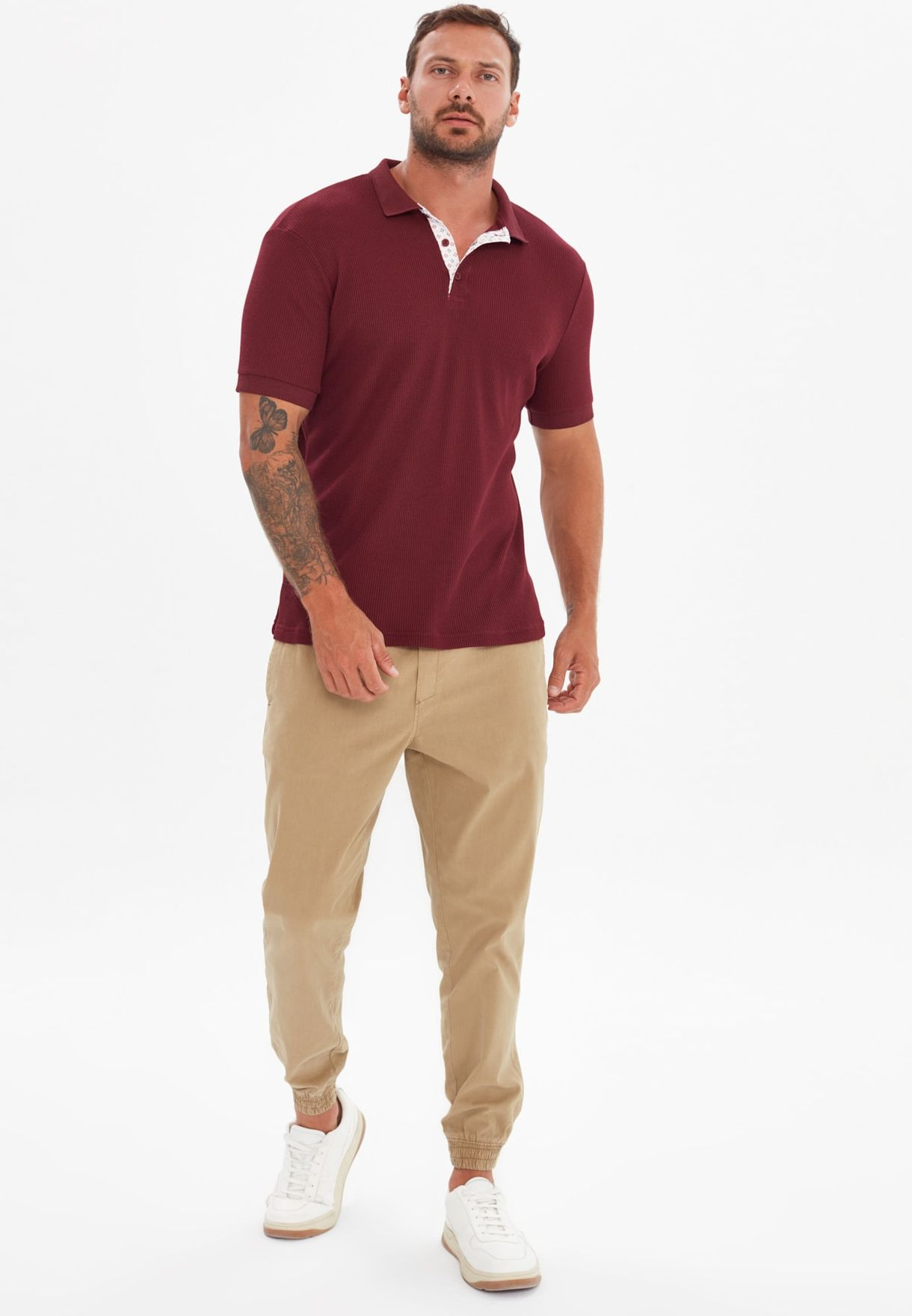 Ribbed Slim Fit Polo