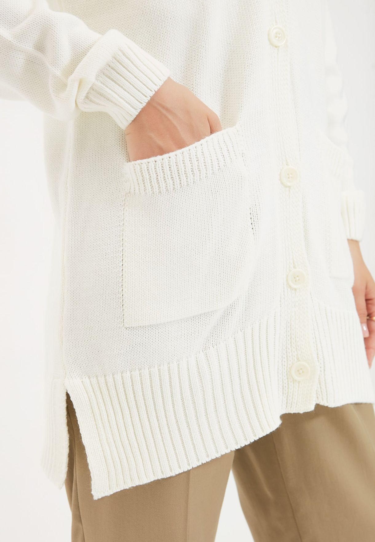 Button Detail Knitted Cardigan
