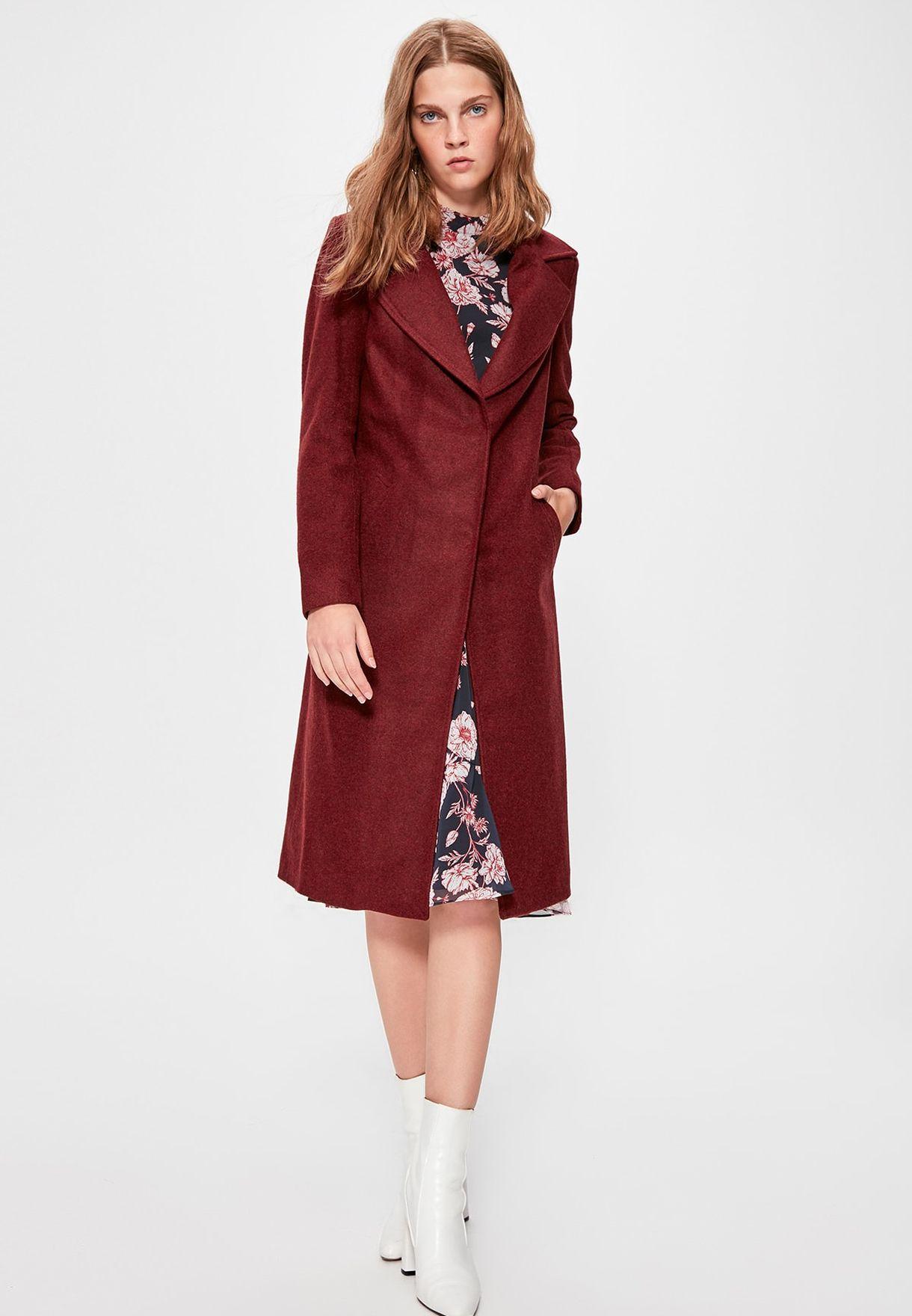 Longline Faux & Fur Coat