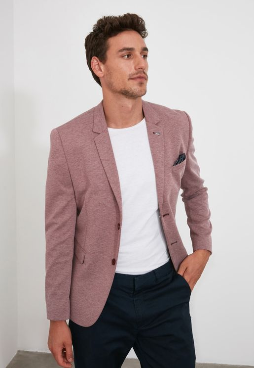 Textured Slim Fit Blazer